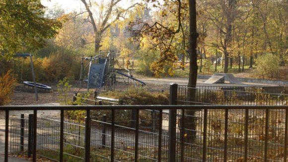 Spielplatz im Johannisthaler Park.