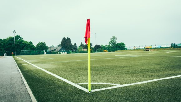 Eckfahne Fußballplatz