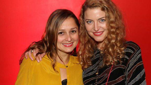 ... Sarah Alles (links) mit Jana Reinermann vertraten die deutsche Schaupiel-Liga.
