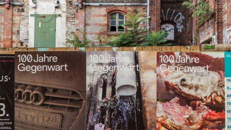 """Die Plakatmotive zur Ausstellung """"100 Jahre Gegenwart"""" im Haus der Kulturen der Welt stammen von Wolfgang Tillmans. Die gibt es im HKW an diesem Sonntag zwar nicht zu sehen, dafür andere schöne Dinge, die von Vergangenheit und Zukunft erzählen."""