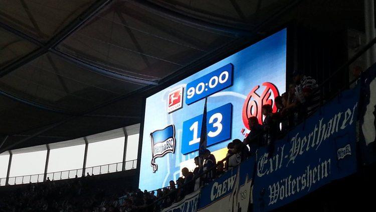 Leider verliert Hertha BSC zuhause 1:3 gegen Mainz.