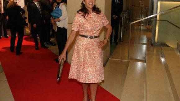 Ist schon auf den Frühling eingestellt: Schirmherrin desDeutschen Hörfilmpreises, Schauspielerin Christine Neubauer.