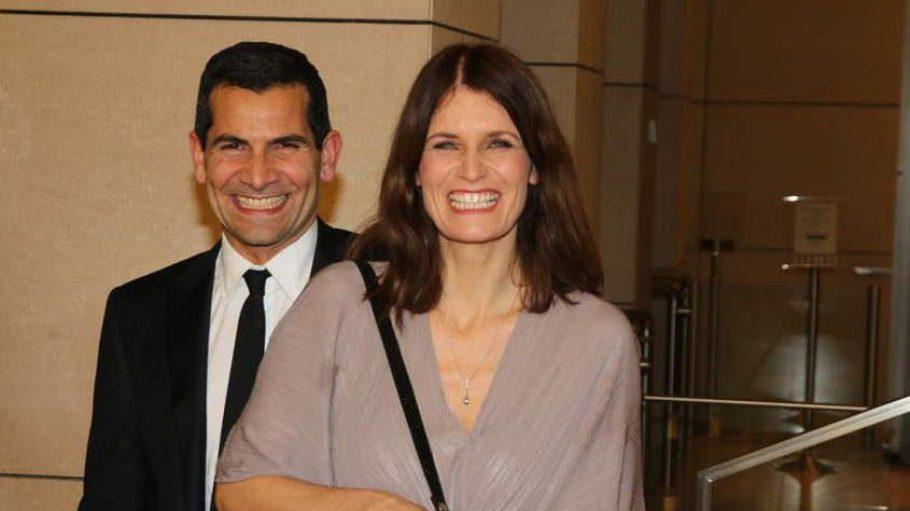 Große Vorfreude auf den Abend: TV-Moderator Mitri Sirin, der durch den 13. Deutschen Hörfilmpreis führte, mit seiner Frau Friederike.