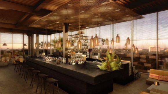 Sonnenuntergang und Traum-Panorama mit einem leckeren Drink in der Hand genießt du in der Monkey Bar in Charlottenburg.