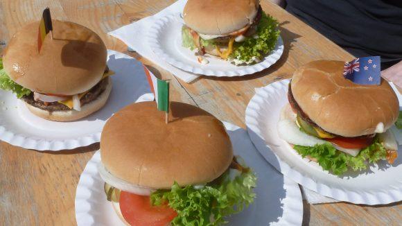 Burger, Hot Dogs und Lollipops, alles was das amerikanische Herz begehrt.