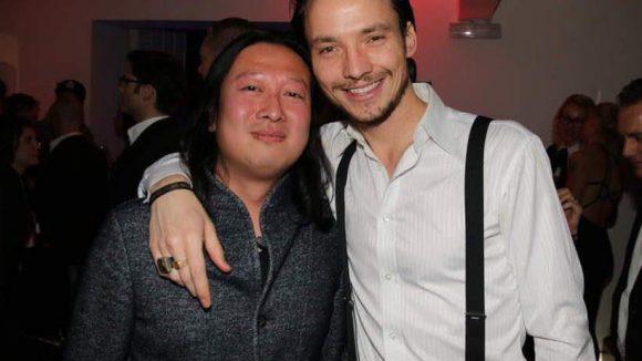 Diese zwei sind natürlich kein Paar, auch wenn sie sich gut zu verstehen scheinen: Ralph Kretschmar und Produzent Jie Lin aus China.