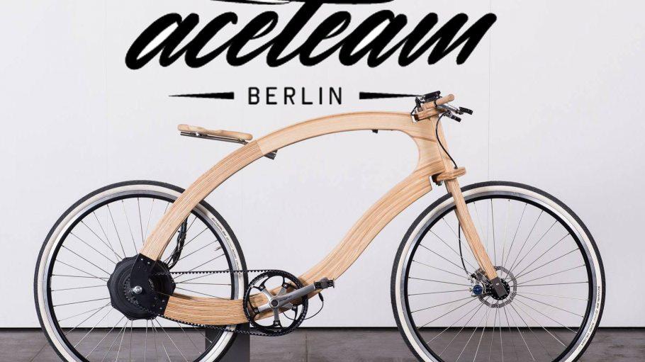 """Das Wood E-Bike wird künftig unter dem Label """"aceteam Berlin"""" mit Hilfe des """"System 180"""" produziert."""