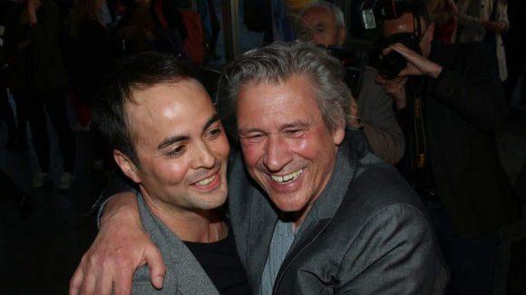 Die Schauspielkollegen Nikolai Kinski (l.) und Michael Kind hatten sichtlich Spaß dabei.