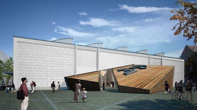 Entwurf der neuen Akademie des Jüdischen Museums Berlin.