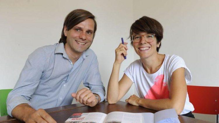 Herausgeber Alexander Visser mit Art Direktorin Marta Ricci.