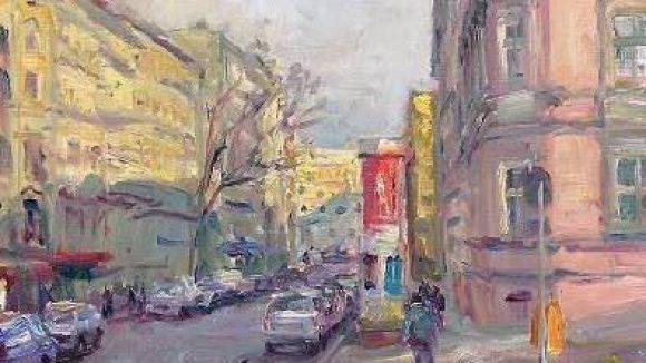 Kunst aus Kreuzberg. André Krigars Blick auf Chamissoplatz und Arndtstraße.