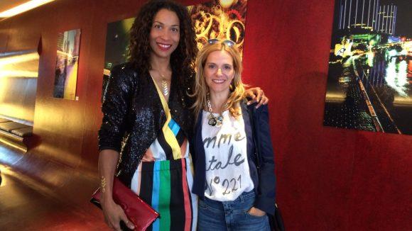 Anja Tillack (rechts) hat Annabelle Mandeng im Hotel Q! getroffen.