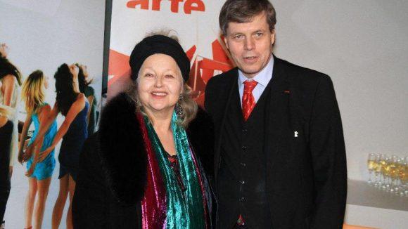 Die große Hanna Schygulla mit Gottfried Langenstein, Arte-Vizepräsident und somit Gastgeber eines Empfangs des Senders in der Akademie der Künste.