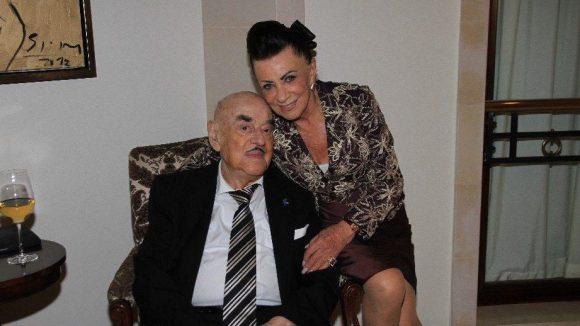 Zu den geladenen Gästen gehörten auch Artur Brauner und seine Frau Maria.
