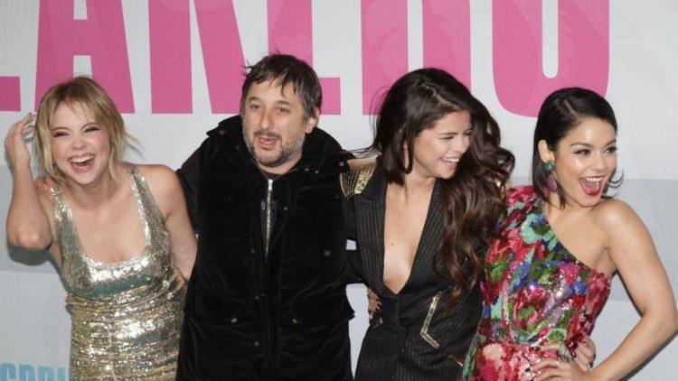 Die Crew: Ashley Benson, Regisseur Harmony Korine, Selena Gomez und Vanessa Hudgens.