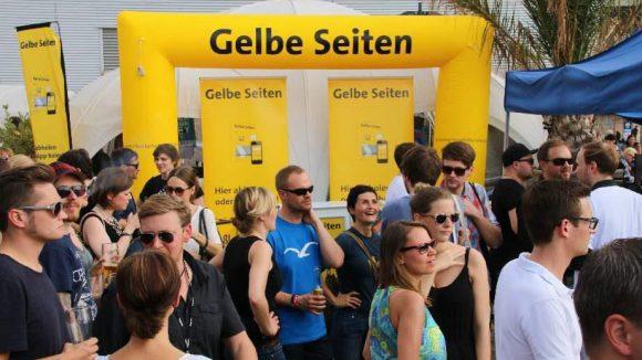 Sponsor des Events auch in diesem Jahr: der Verlag Gelbe Seiten. Die Berliner Tochter hat übrigens auch QIEZ mitinitiiert.