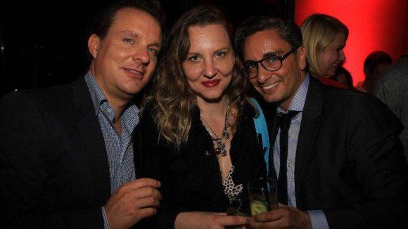 Kinderbuchillustratorin und Autorin Florentine Joop mit Stephan Haagen (l.) und Stephan Meyer.