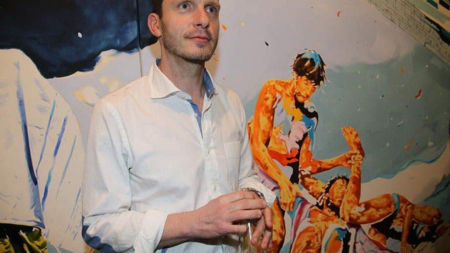 """Unter dem Titel """"Balagan"""" zeigt Norbert Bisky in der Galerie Bötzow bis August 2015 neue Arbeiten."""