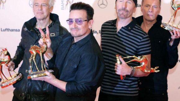 Für die legendäre Band U2 gab's den Bambi Musik International.