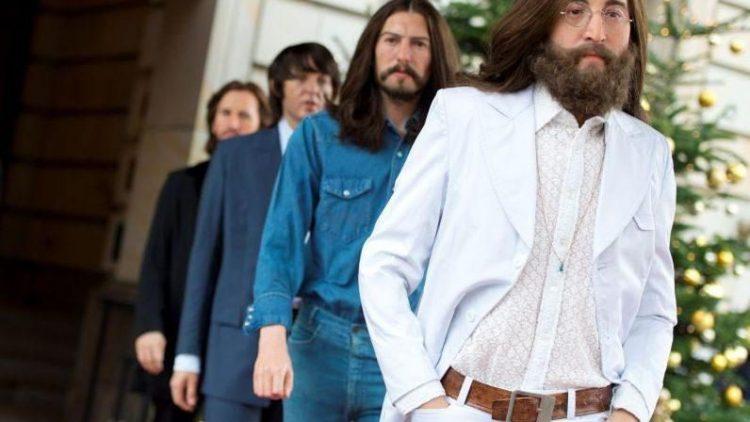 Täuschend echt: John Lennon und Co. vor dem Adlon.