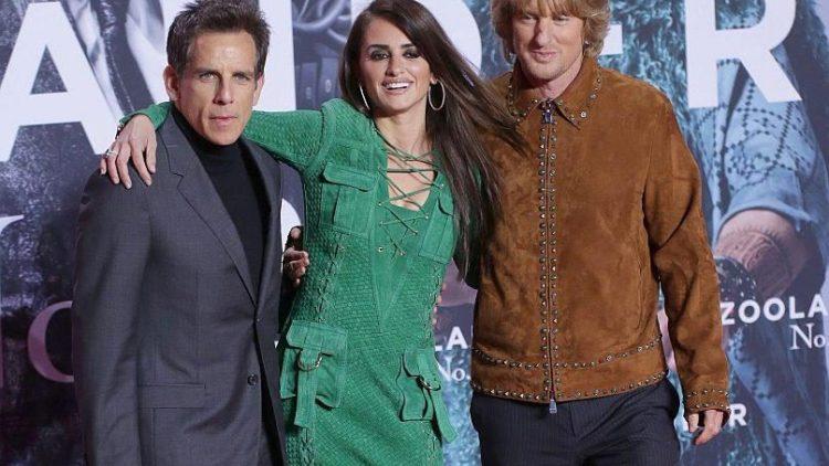 """Drei der vielen Stars im zweiten """"Zoolander"""": Hauptdarsteller und Regisseur Ben Stiller (l.) mit Penelope Cruz und Owen Wilson bei der Deutschlandpremiere des Films."""