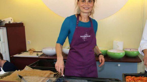 Um die leeren Sportler-Mägen kümmerte sich Köchin Sarah Wiener.