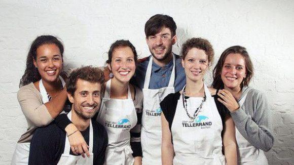 Das Team von Über den Tellerrand kochen: Bontu, Rafael, Ninon, Gerrit, Lisa und Lisa (v.l.)
