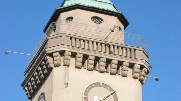 Der Casinoturm wurde zwischen 1909 und 1910 als 30Meter hohes Wahrzeichen des Ortsteils erbaut.