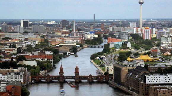 Blick auf die Innenstadt von Osten