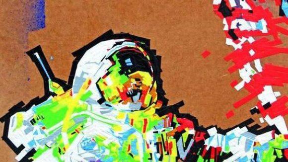 Die klebt dir eine - aber wie! Bei der ersten Tape Art Convention in Berlin zeigen neun Künstler ihr Können, u.a. Evi Kupfer.