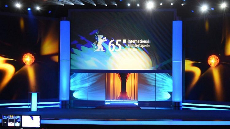 Es kann losgehen: Der Berlinale-Palast am Potsdamer Platz ist bereit für die Eröffnungsgala der 65. Internationalen Filmfestspiele von Berlin