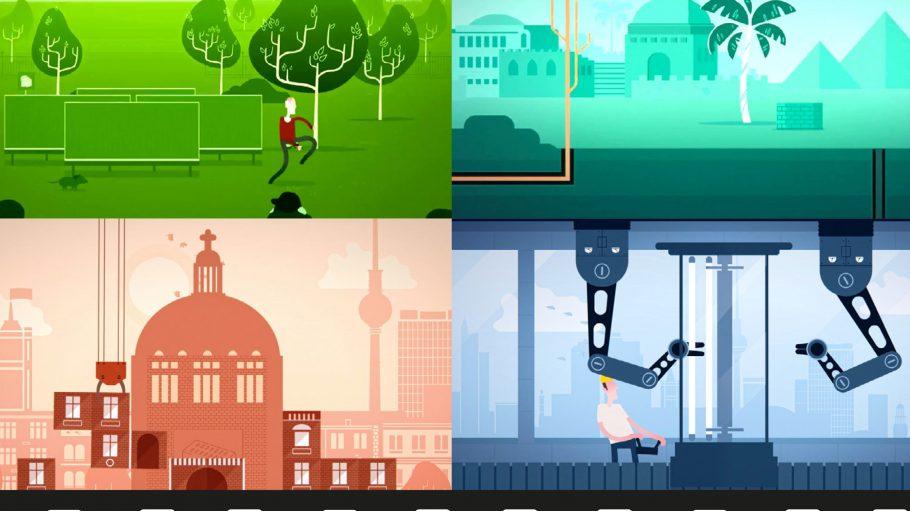 """Hauptsache bunt: Die Animationsfilme der Kampagne """"Berlindustrie rocks"""" kommen in den verschiedensten Farben daher."""