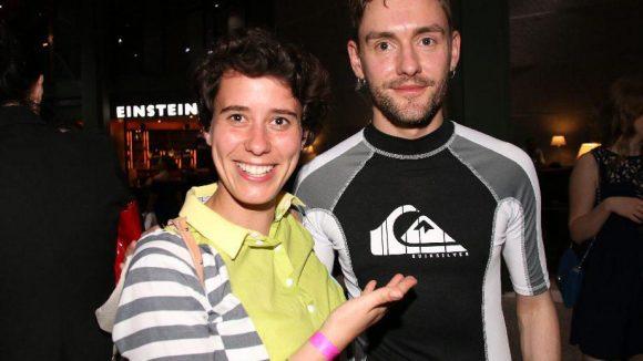 Die Berliner Designerin Alexandra Kiesel, auch Dozentin an der Esmod, mit ihrem Dozentenkollegen Lars Paschke.