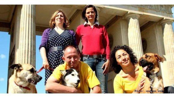 Das Berliner Hundequartett von links nach rechts: Anke Peters, Robert Gaiswinkler, Simone Laube und Melanie Knies.