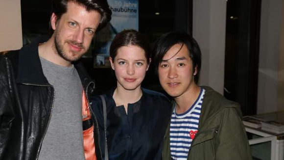 Berliner Modedesigner unter sich: Michael Sontag (l.), Johanna Perret (vom Label Perret Schaad) und Hien Le.