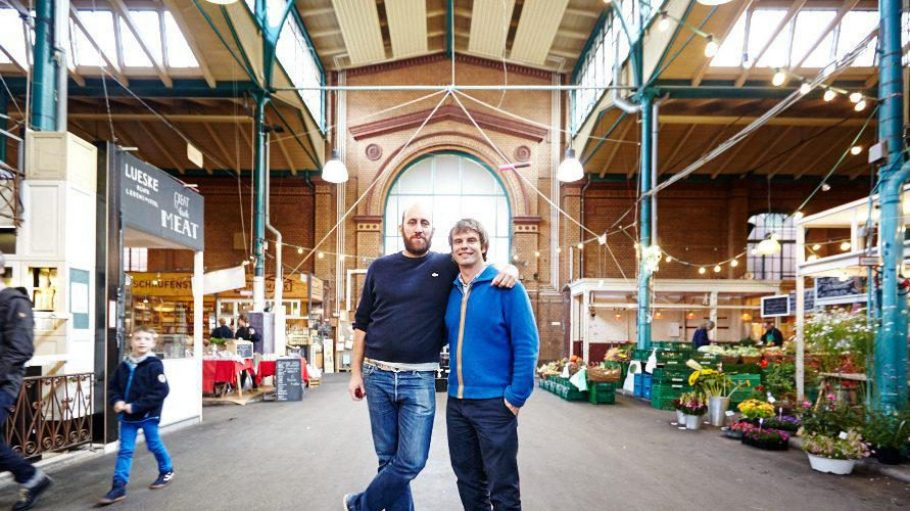 Verstehen sich blendend: Bäcker Alfredo Sironi und Markthalle-Neun-Gründer Bernd Maier. Für mehr Bilder unserer Tour klick dich durch die Galerie.