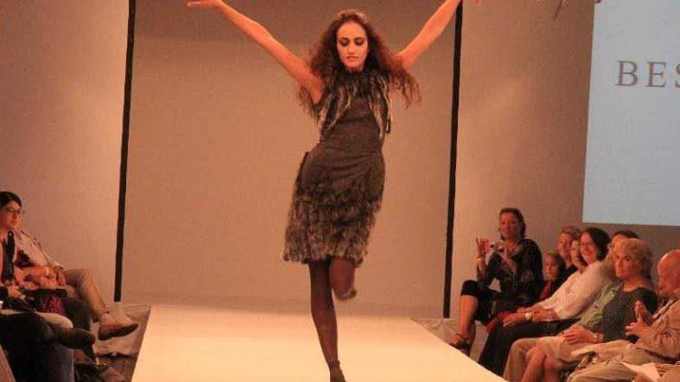 Ganz wie beim Ballett: Tänzerin Sarah Mestrovic als Model bei BEST-Sabel.