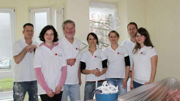 Das Renovierungs-Team.