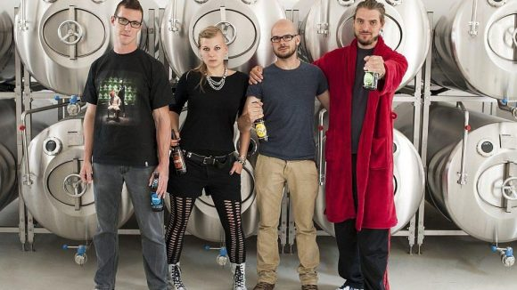 Das Team der Bierfabrik: Sebastian Mergel, Sanni Penack, André Schleypen, Julian Schmidt (v.l.n.r.).