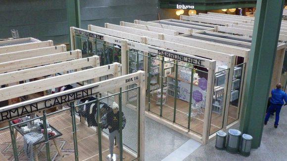 """Die """"Bikini Berlin Boxes"""": Temporäre Ladenflächen, die für drei bis zwölf Monate an innovative, junge, kleine Einzelhändler und Labels vermietet werden."""