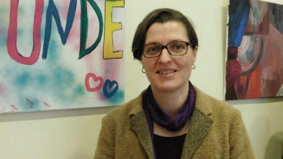 Birgit Monteiro stellt sich vor. Vielleicht wird sie in derselben Woche noch zur Bürgermeisterin von Lichtenberg gewählt.