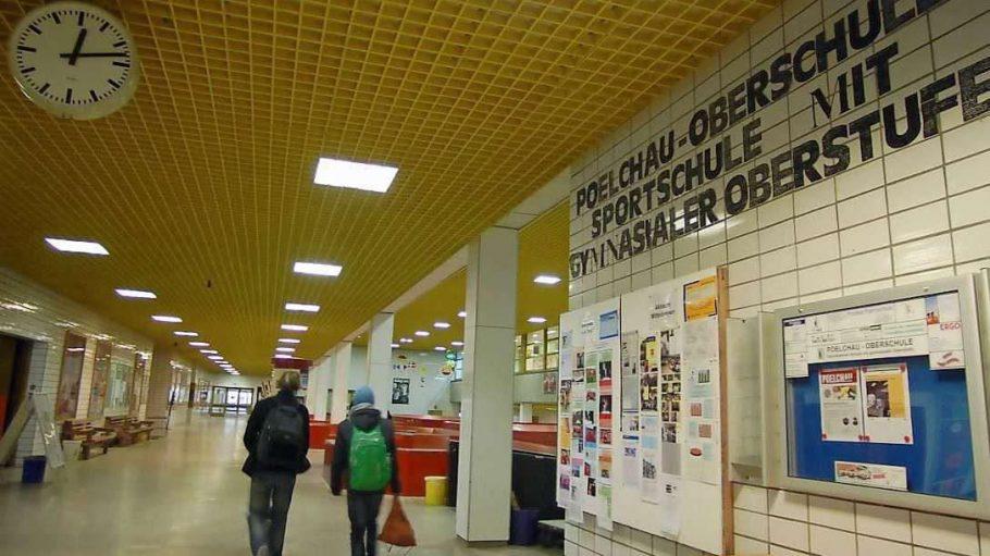 Blick ins bisherige Gebäude der Poelchau-Schule.