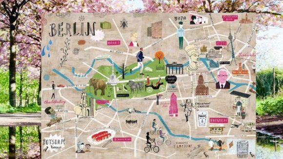 Die zarte Blütenpracht am Mauerweg und farbenfroh illustrierte Karten sind nur ein zwei der vielen bunten Seiten, auf die wir dank der Blogger aus Berlin gestoßen sind.
