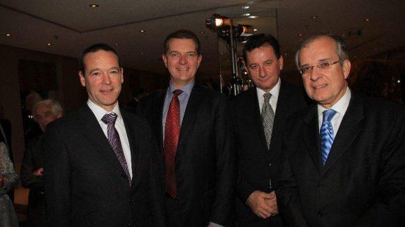 Diplomatisches Viererpack: Die Botschafter von Großbritannien (Simon McDonald), Australien (Peter Tesch), Polen (Jerzy Marganski) und Frankreich (Maurice Gourdault-Montagne).