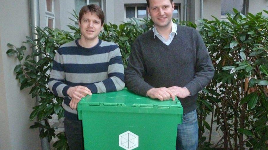 Geschäftsführer Gerrit Jan Reinders (r.) ist der Gründer von Box at Work, Moritz Schäfer der Betriebsleiter.