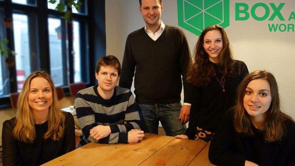 Das Team von Box at Work (v.l.): Marken-Managerin Josephine de Fijter, Moritz Schaefer, Gerrit Jan Reinders, Christiane Jakobs (Social Media), Ophelia Gassmann (Business Intelligence).