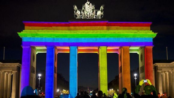 "Das Brandenburger Tor beim ""Festival of Lights""."