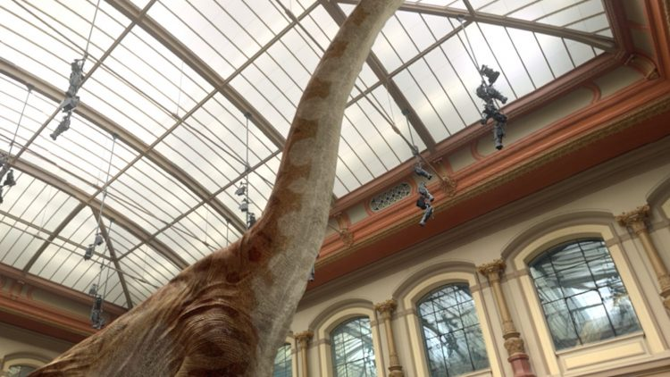 Groß, größer, Giraffatitan – Dank Virtual Reality kannst du den Giganten fast berühren!
