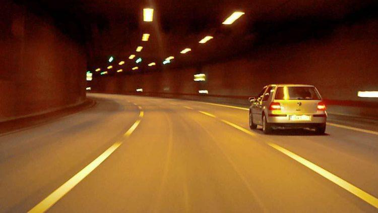 Im Britzer Tunnel in Neukölln.