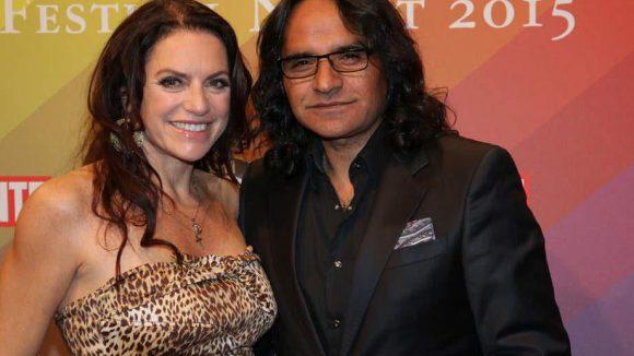 Auch Christine Neubauer brachte ihren Freund Jose Campos mit.